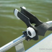 Optional stern rails for easy rod holder mounting