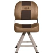 Standard folding seats on pedestals and locking seat swivels