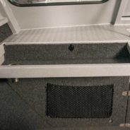Dash tray and netted storage